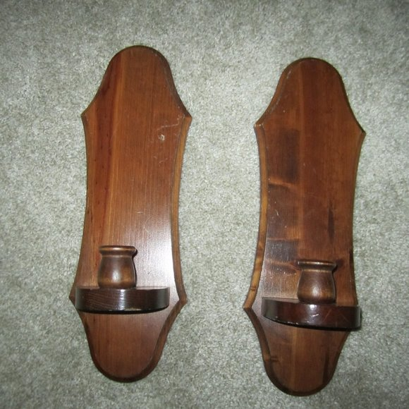 Vintage Other - Vintage Home Interior Wooden Candle Holder (2)